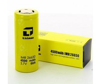 Listman 26650 4500mAh 60A Akkumulátor